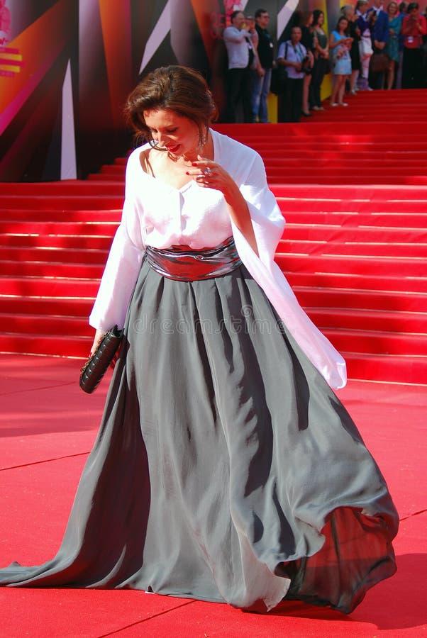 Alisa Khazanova au festival de film de Moscou images libres de droits