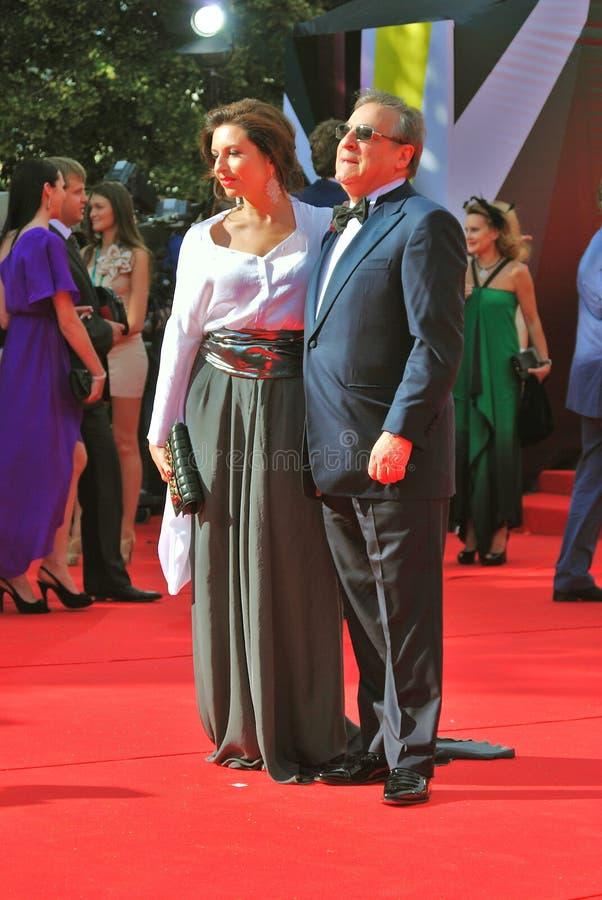 Alisa Khazanova au festival de film de Moscou photographie stock