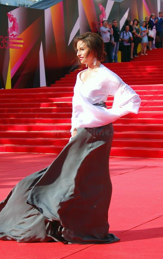 Alisa Khazanova au festival de film de Moscou photo stock