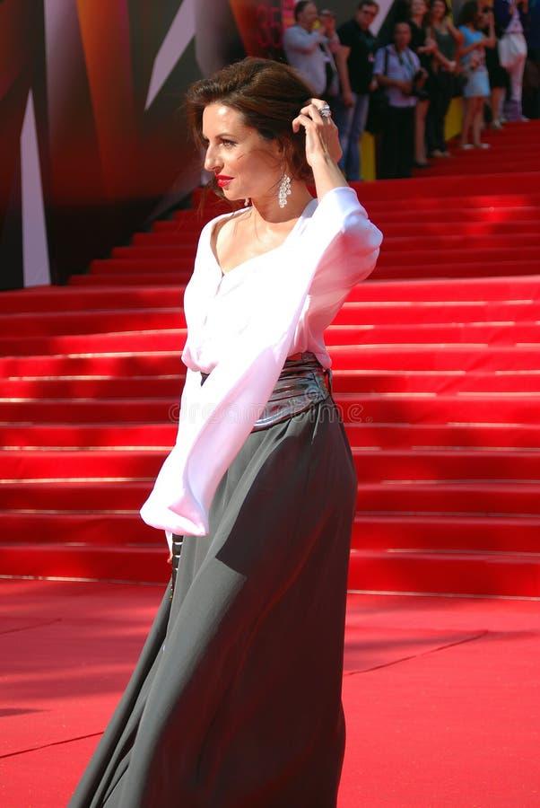Alisa Khazanova au festival de film de Moscou image stock