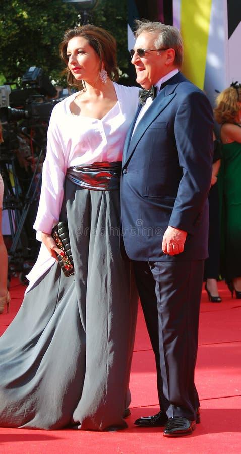 Alisa Khazanova et Gennady Khazanov au festival de film de Moscou photographie stock libre de droits