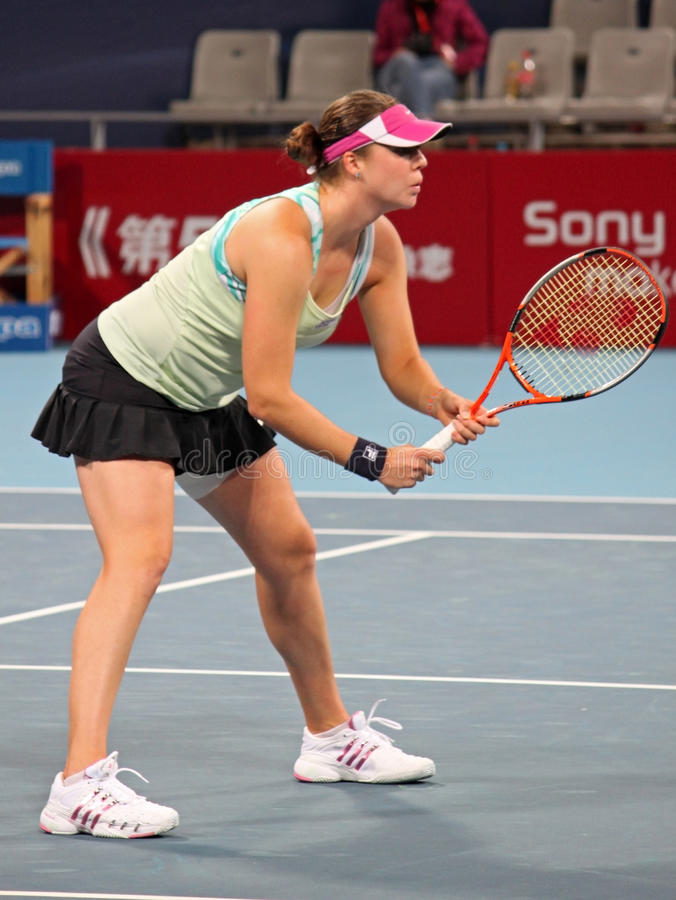 Alisa Kleybanova (RUS), tennisspeler royalty-vrije stock foto's