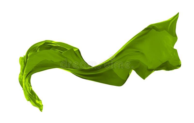 Alise el satén verde elegante aislado en el fondo blanco libre illustration