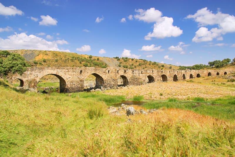 Download Aliseda roman bridge stock photo. Image of culture, stone - 29130246