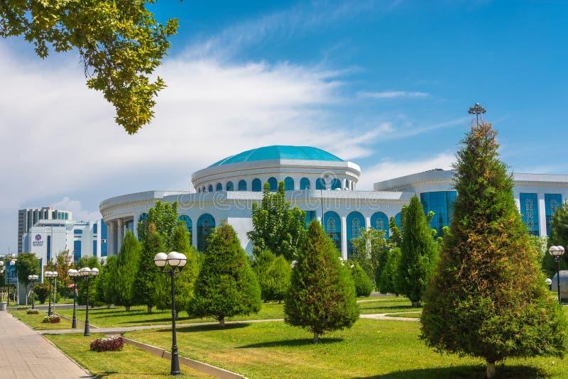 Alisher Navoi Library en Tashkent, Uzbekistán foto de archivo libre de regalías