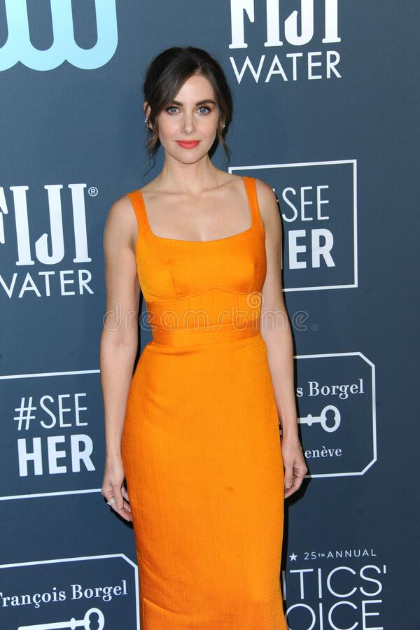 Alison Brie royalty free stock images
