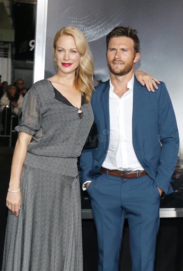 Alison Eastwood e Scott Eastwood immagine stock