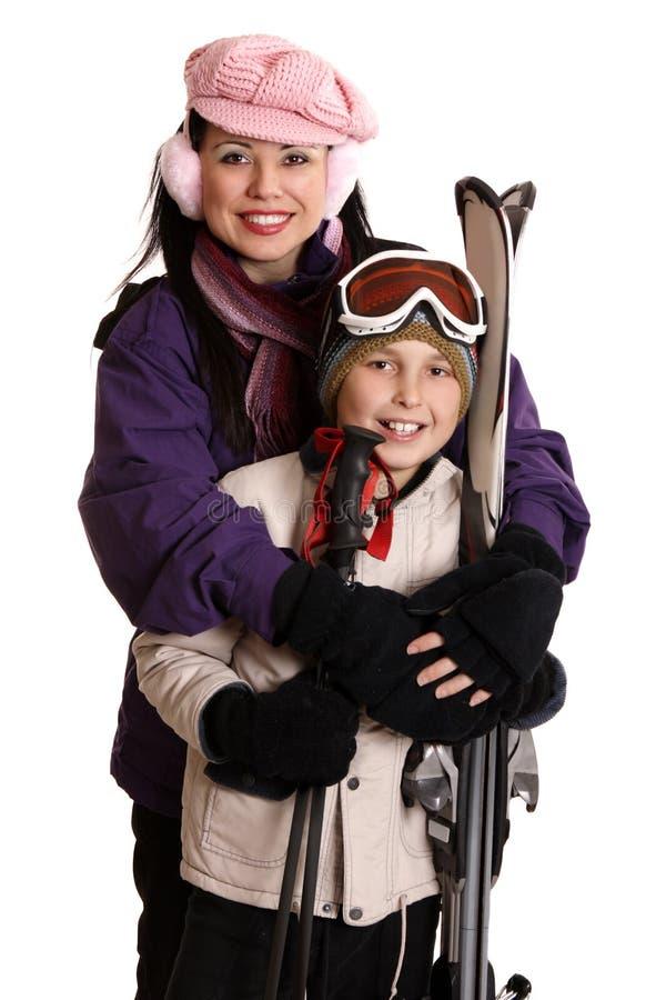Aliste para la estación del esquí fotos de archivo