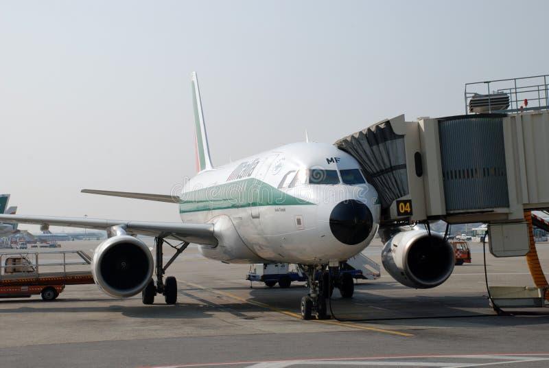 Alitalia Airplane royalty free stock photo