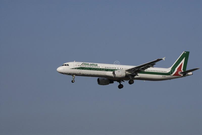 ALITALIA lot międzynarodowy zdjęcie stock