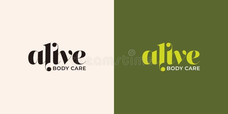 alive typography logo design stock photography
