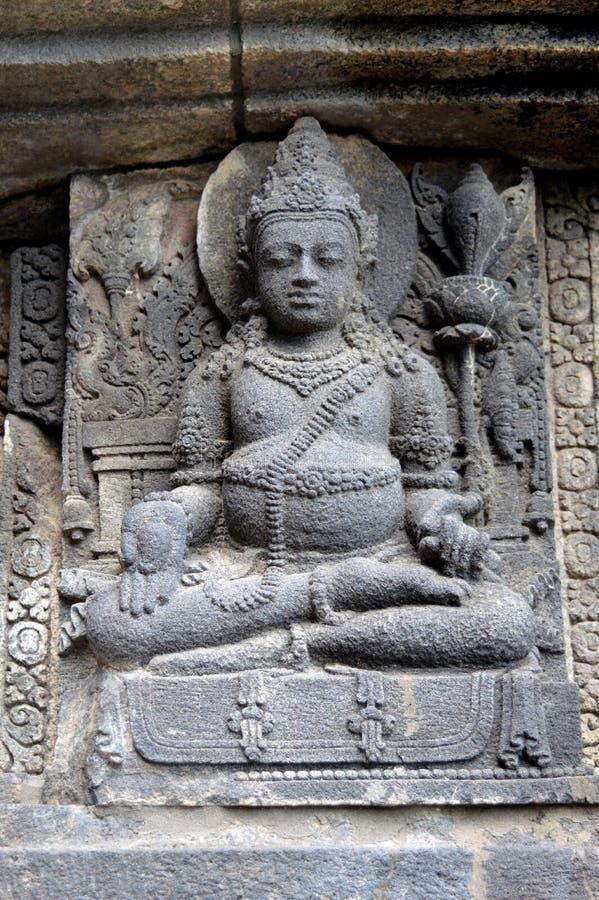 Alivio de dios del templo prambanan fotos de archivo