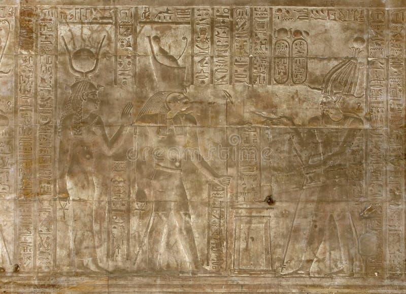 Alivio en el templo de Edfu ilustración del vector