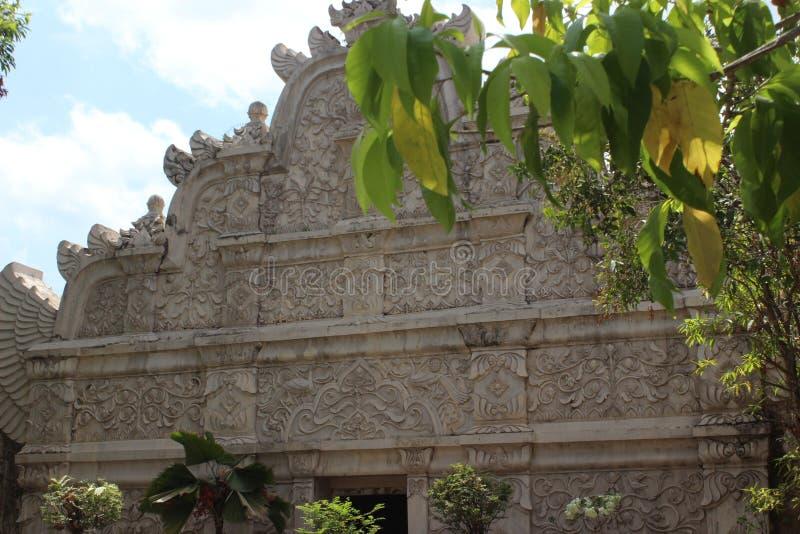 Alivio hermoso en Tamansari Yogyakarta imagen de archivo libre de regalías