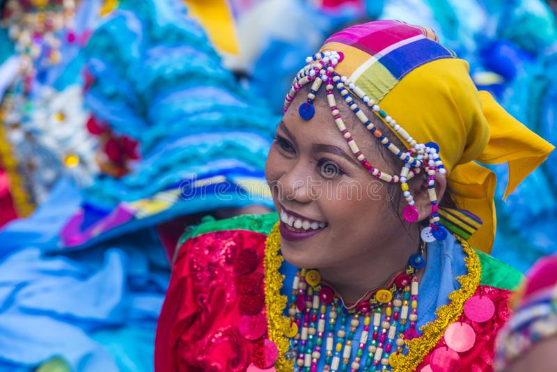 2018 Aliwan Fiesta. MANILA , PHILIPPINES - APRIL 27 :Participant in the Aliwan fiesta in Manila Philippines on April 27 2018. Aliwan Fiesta is an annual event royalty free stock images