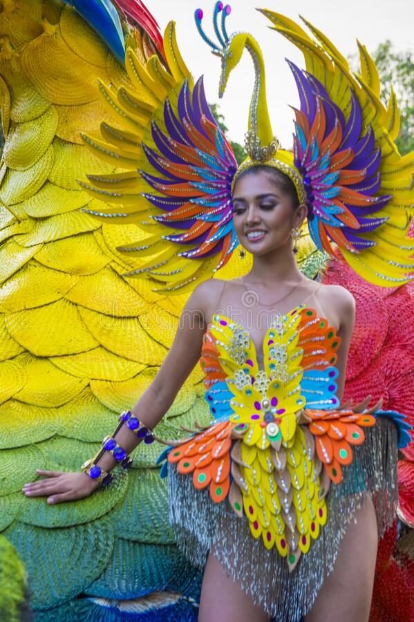 2019 Aliwan Fiesta. MANILA , PHILIPPINES - APRIL 27 :Participant in the Aliwan fiesta in Manila Philippines on April 27 2019. Aliwan Fiesta is an annual event stock photos