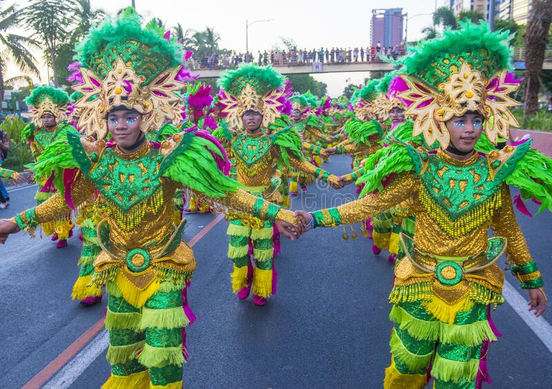 2019 Aliwan Fiesta. MANILA , PHILIPPINES - APRIL 27 :Participants in the Aliwan fiesta in Manila Philippines on April 27 2019. Aliwan Fiesta is an annual event stock images