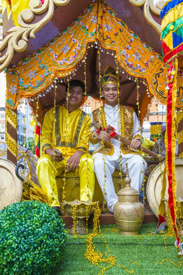 2019 Aliwan Fiesta. MANILA , PHILIPPINES - APRIL 27 :Participants in the Aliwan fiesta in Manila Philippines on April 27 2019. Aliwan Fiesta is an annual event stock images