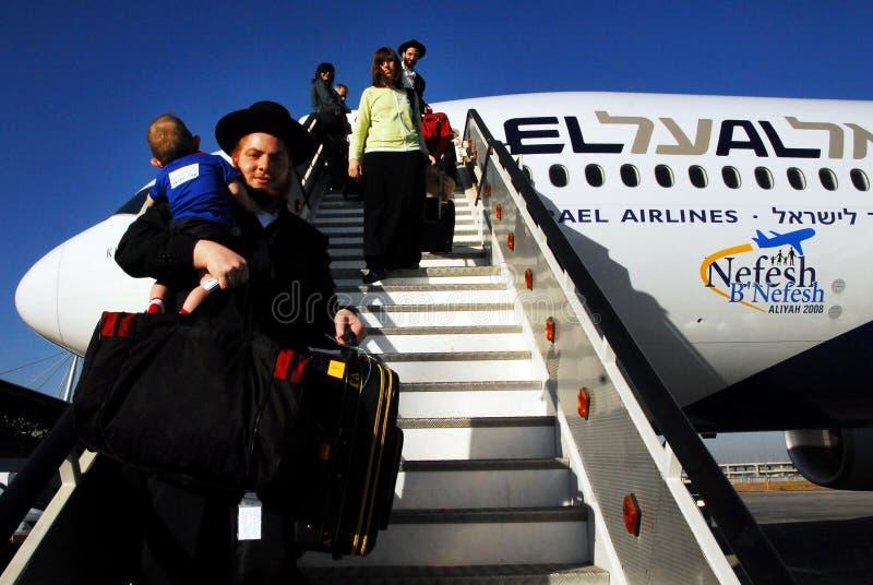 Aliyah och nya invandrare till Israel royaltyfri fotografi