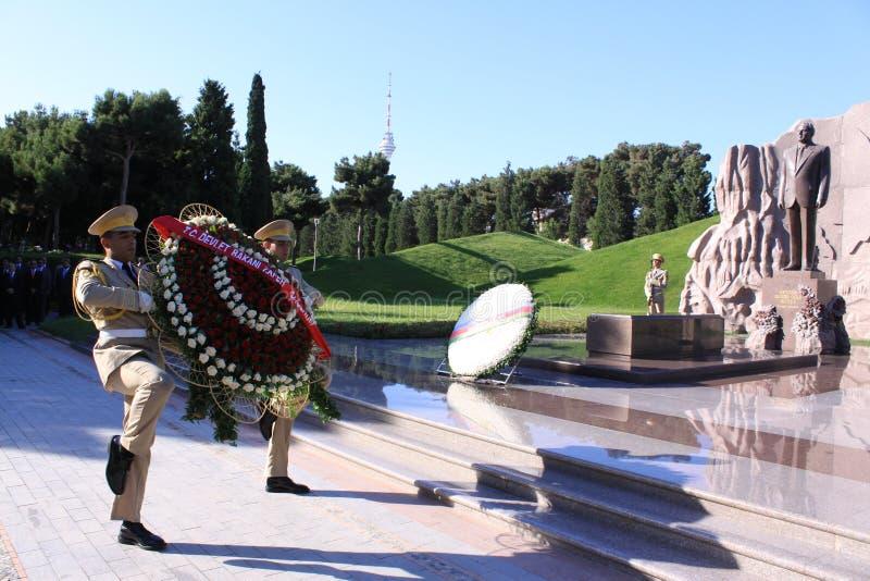 aliyev heydar τάφος στοκ φωτογραφία με δικαίωμα ελεύθερης χρήσης