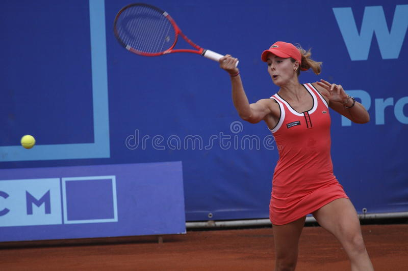 Alize Cornet In WTA Prague Tournament Editorial Image