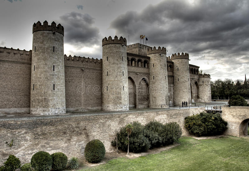 Aljaferia Palace, Zaragoza royalty free stock photos