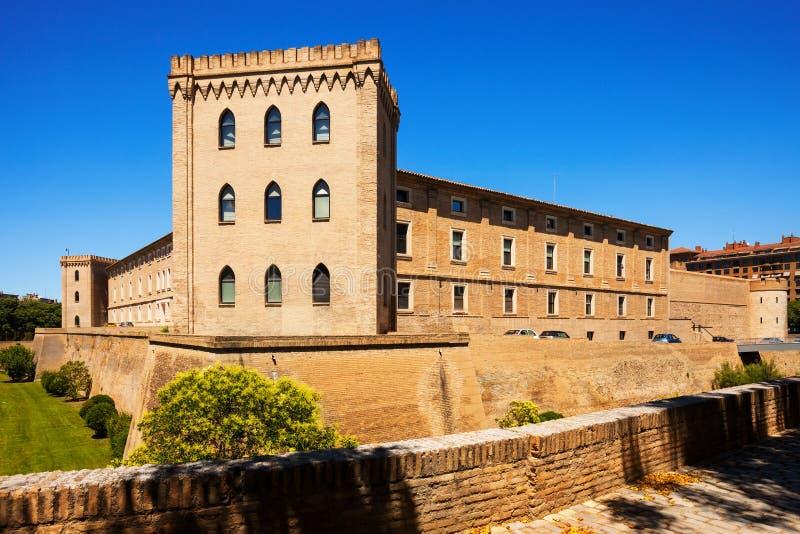 Aljaferia-Palast in Saragossa stockfoto