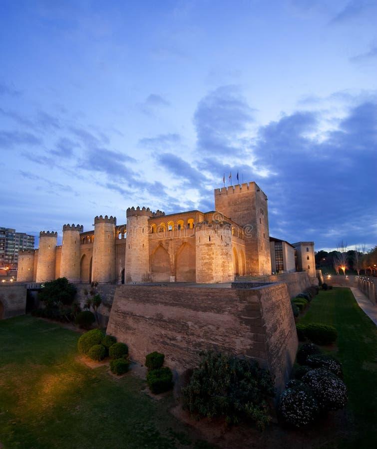 Aljaferia Palast in Zaragoza stockfotos