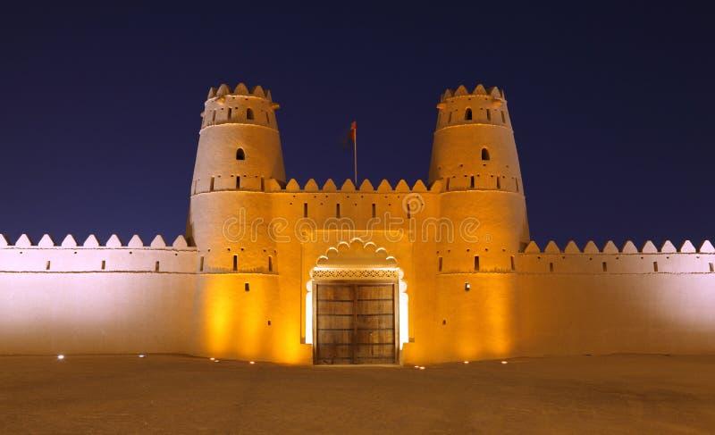 AlJahili Fort i Al Ain, Abu Dhabi arkivbild