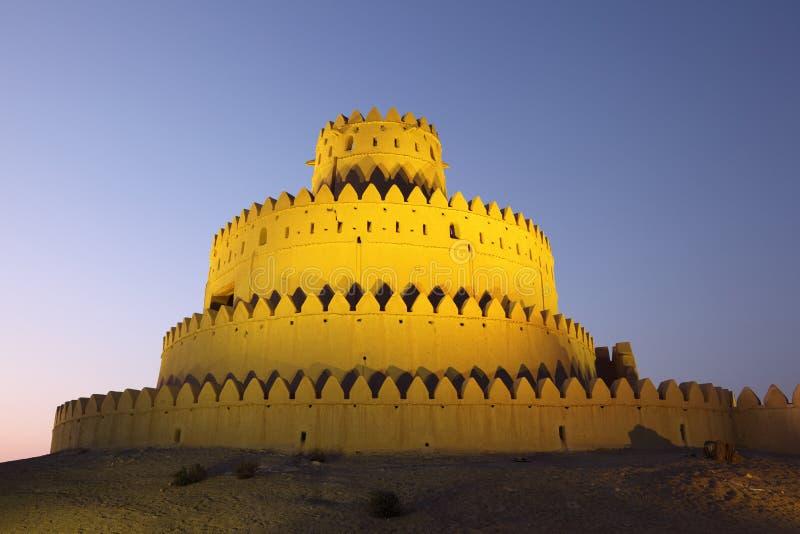 AlJahili fort i Al Ain, UAE royaltyfria bilder