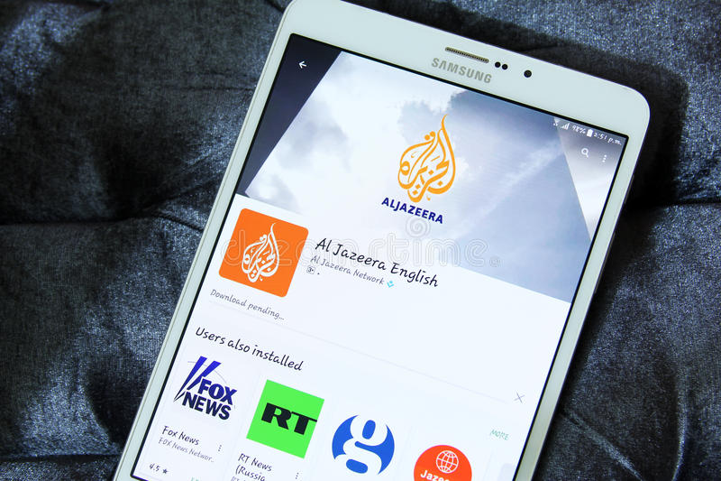 Aljazeera english app logo stock images