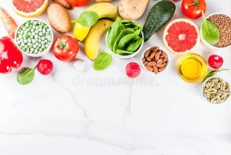 Alkaline diet ingredients royalty free stock photos