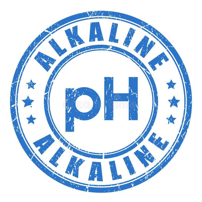 Alkaline ph balance. Vector stamp royalty free illustration