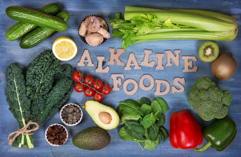 Alkaliska foods royaltyfria foton