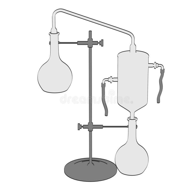 Alkemihjälpmedel vektor illustrationer