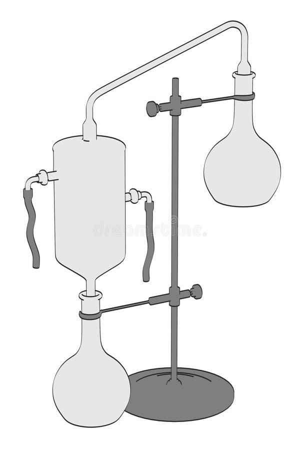 Alkemihjälpmedel royaltyfri illustrationer