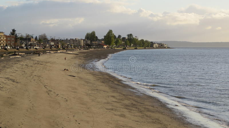 Alki海滩西雅图 库存图片