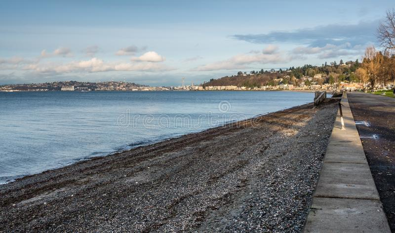 Alki Beach Landscape immagine stock libera da diritti