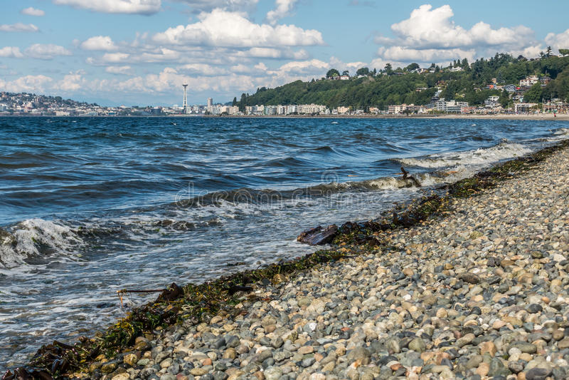 Alki plaża W Zachodnim Seattle 2 fotografia stock