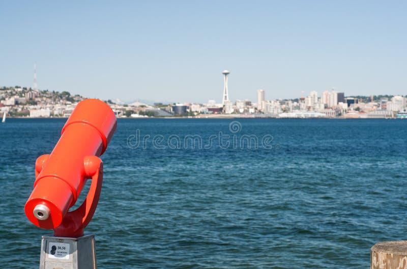 alki plaży parka Seattle spyglass fotografia stock
