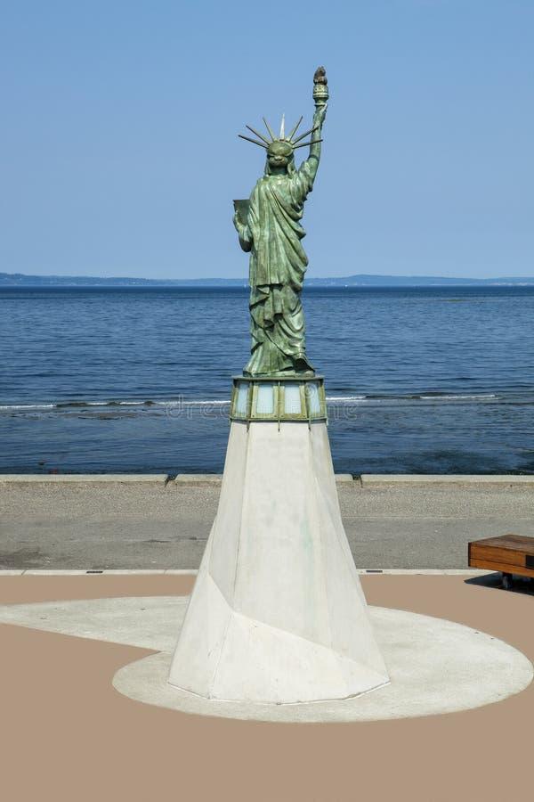 Alki Statue di libertà fotografia stock
