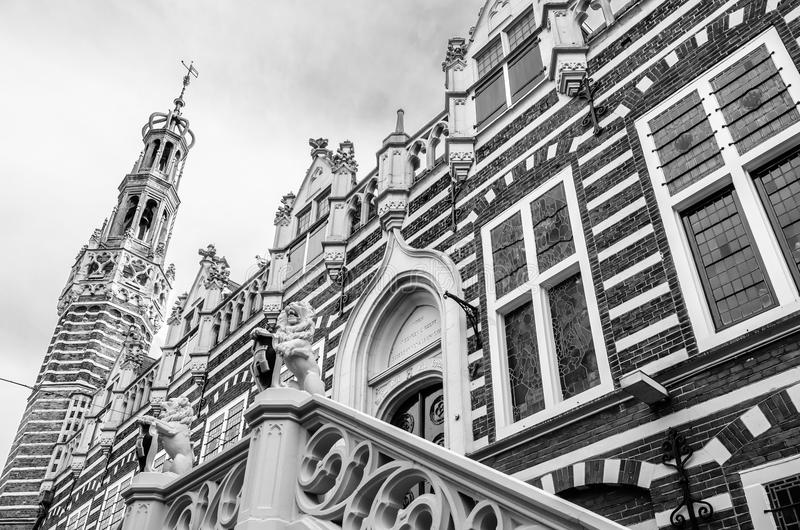 Alkmaar city hall facade stock photography