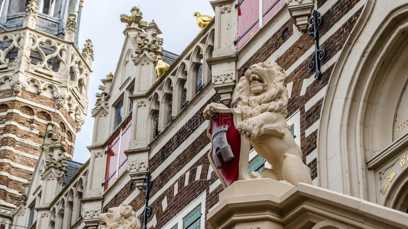 Alkmaar city hall facade stock photos
