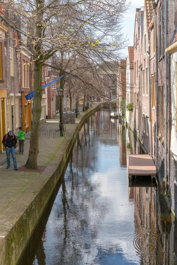Alkmaar, the Netherlands - April 12, 2019: The old city centre of Alkmaar in North-Holland in the Netherlands. Also known as the royalty free stock image