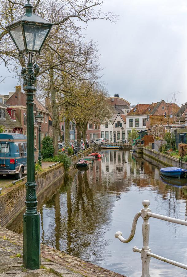 Alkmaar, the Netherlands - April 12, 2019: The old city centre of Alkmaar in North-Holland in the Netherlands. Also known as the stock photography