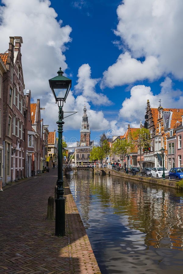 Alkmaar pejzaż miejski - holandie fotografia royalty free