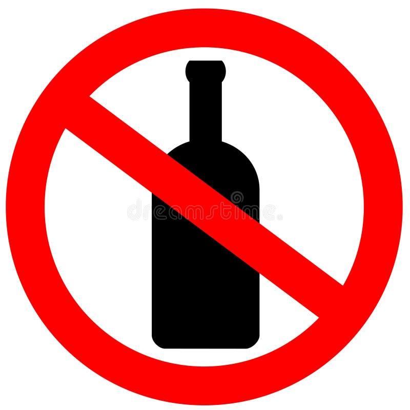 alkohol żadny znak ilustracji
