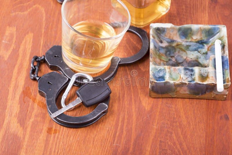 Alkohol bil, tangenter, tragedi royaltyfri fotografi