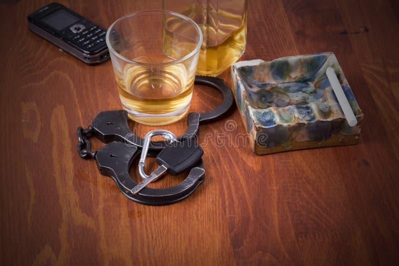 Alkohol bil, tangenter, tragedi royaltyfria bilder