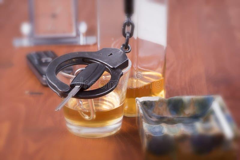 Alkohol bil, tangenter, tragedi fotografering för bildbyråer